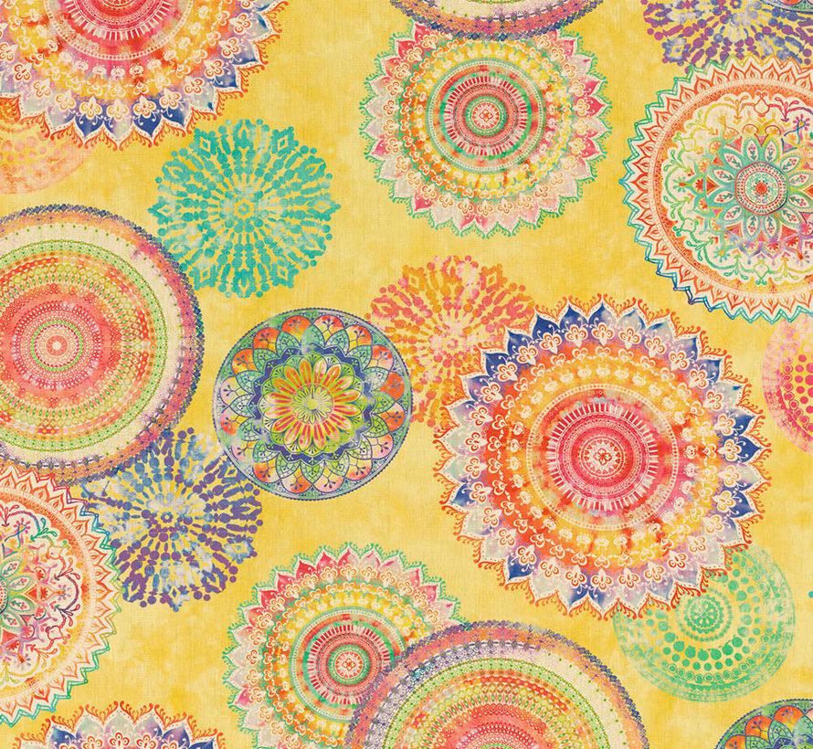 Mandala geel - outdoor
