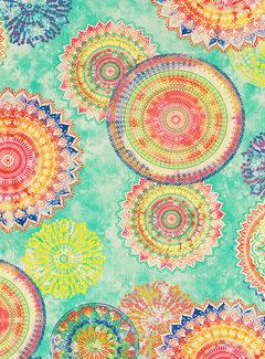 Decostoffen Multicolor Mandala - outdoor