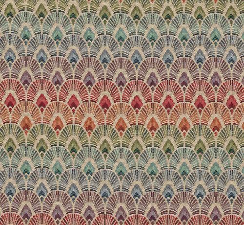 Decostoffen Multicolor pauwenveren regenboog parade gobelin