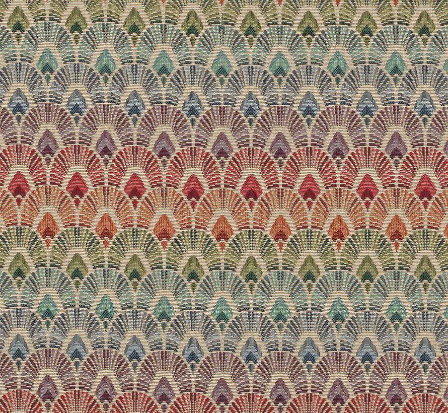 Multicolor pauwenveren regenboog parade gobelin