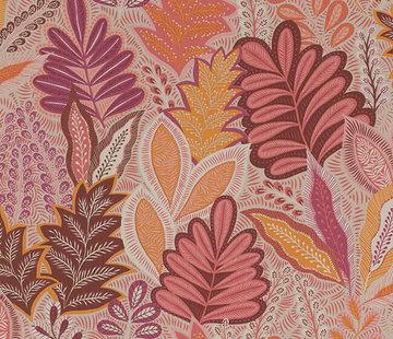 Decostoffen Botanisch roze linnenlook