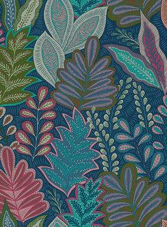 Decostoffen Botanisch blauw velvet deluxe