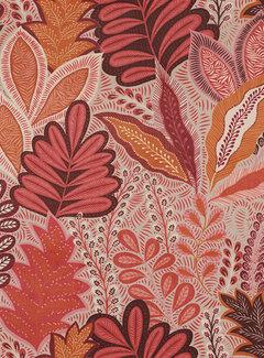 Decostoffen Botanisch roze velvet deluxe