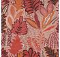 Botanisch roze velvet deluxe meubelstof