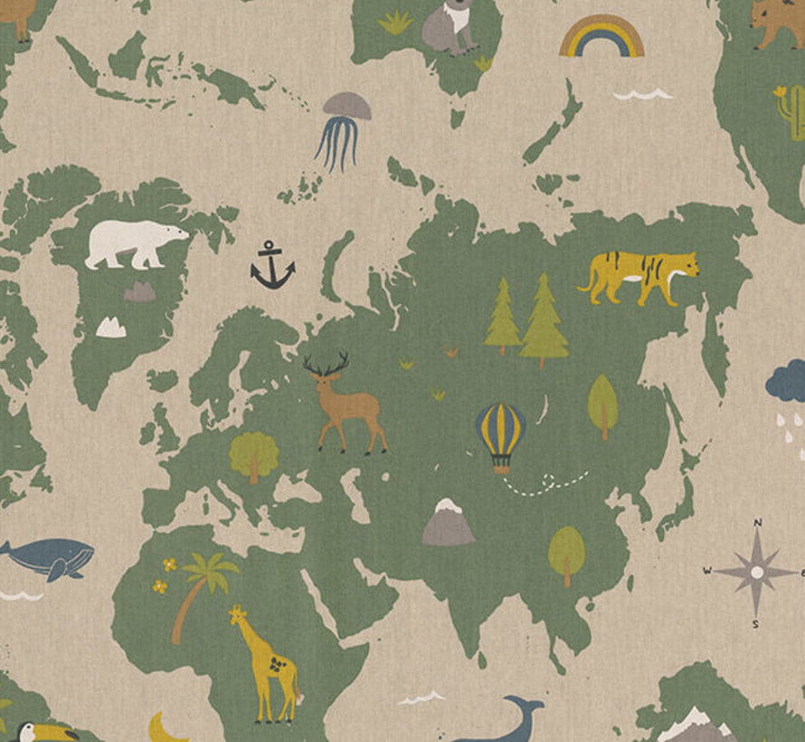Landkaart linnenlook