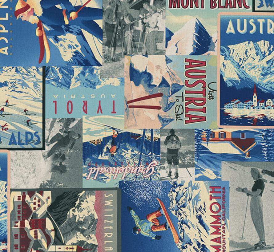 Ski vintage digitale print