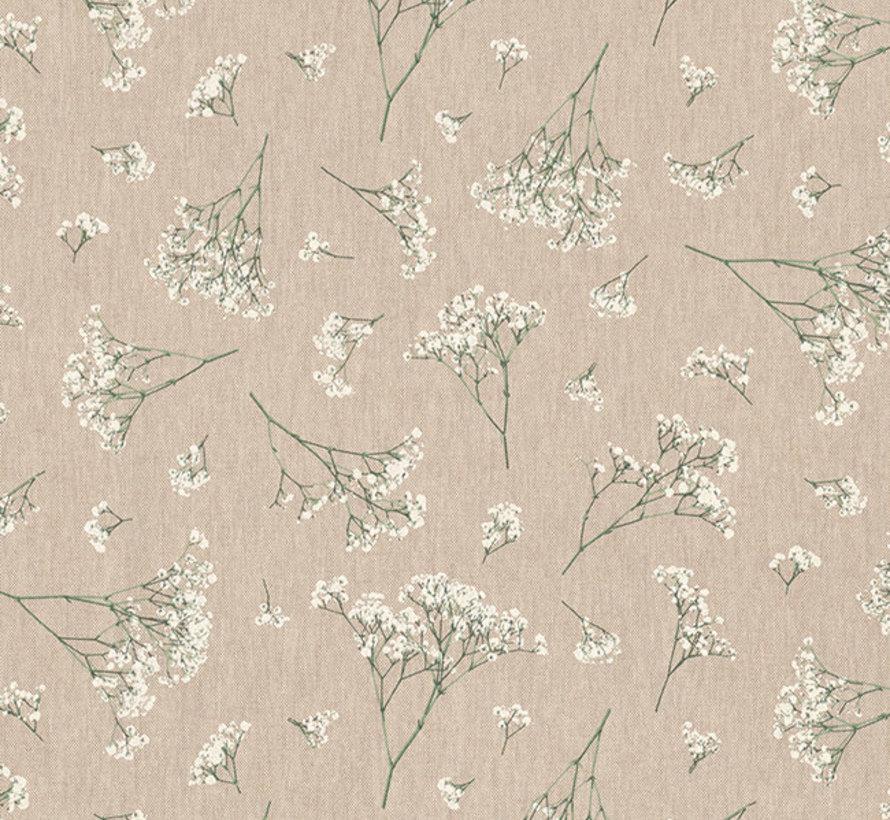 Witte gipskruid bloemen linnenlook