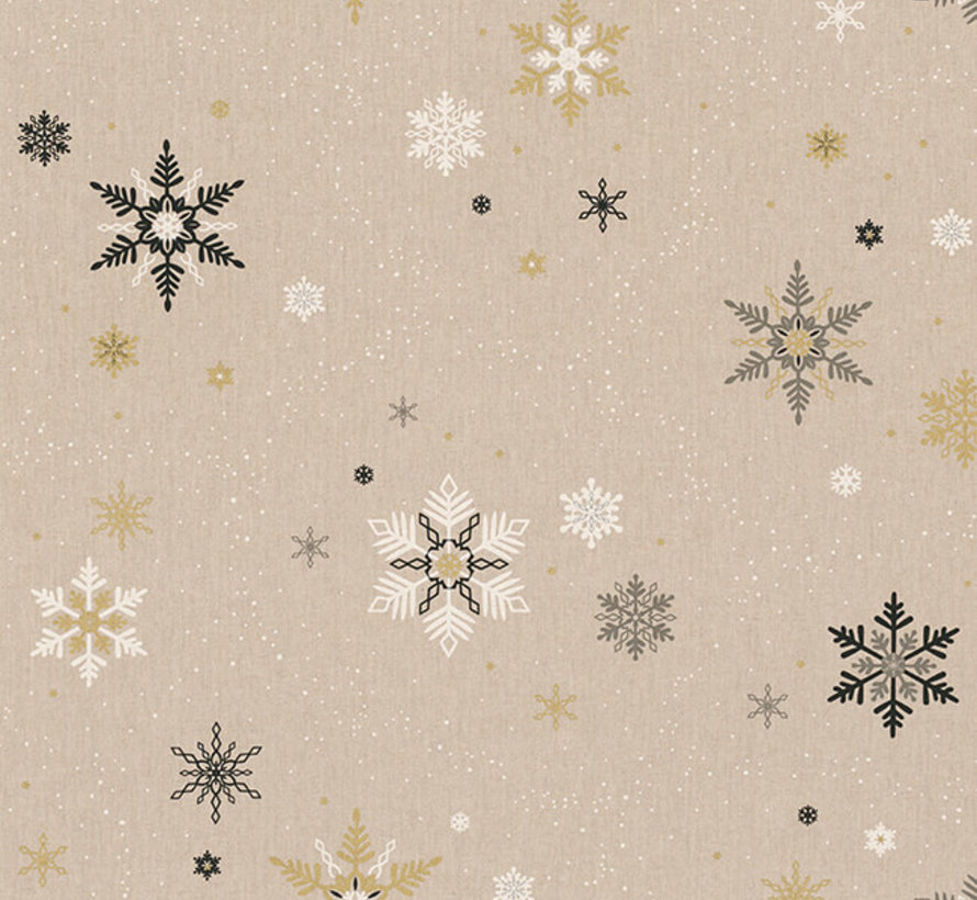 Kerst vlokken goud linnenlook