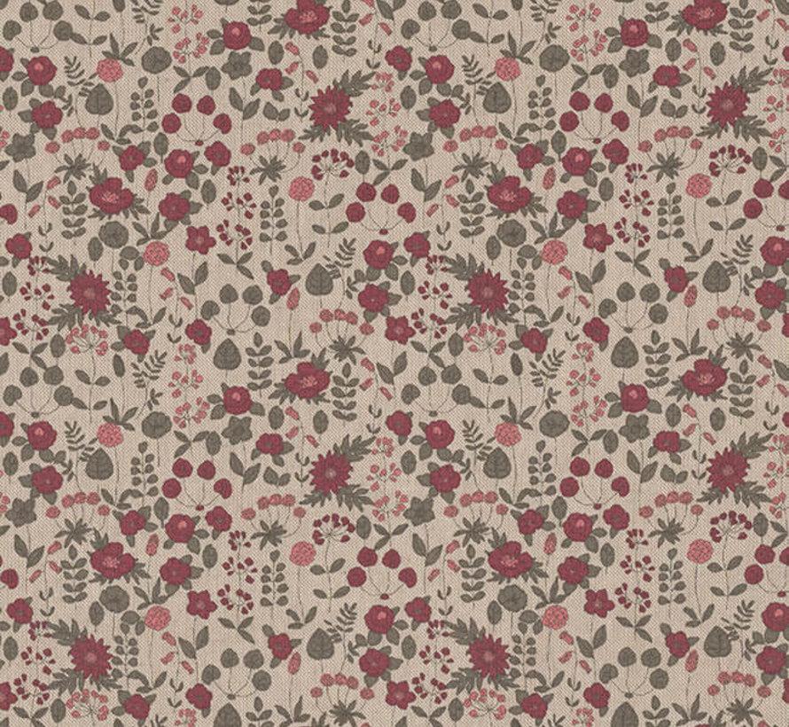 Roze bloemen linnenlook