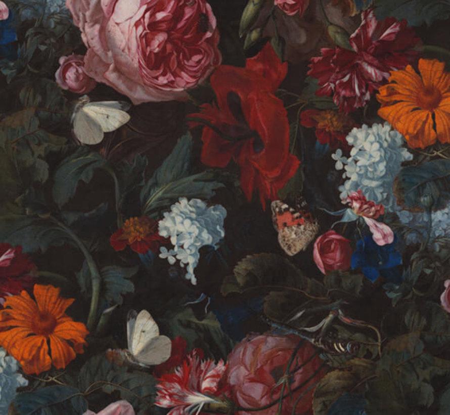 Bloemen velvet digitale print