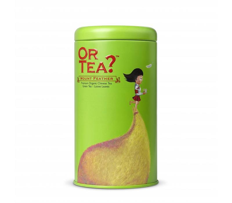 Zylinderpackung Mount Feather mot losem grünem Tee BIO (75g)