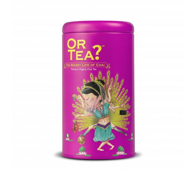 Cylinderdoos The Secret Life of Chai met losse chai thee BIO (100g)