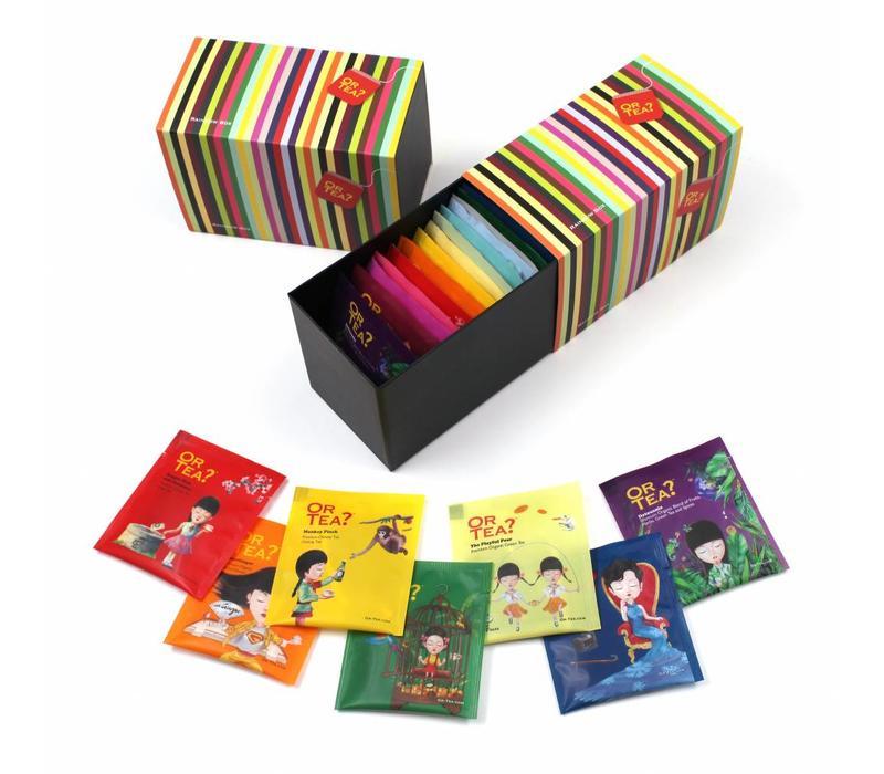 The Rainbow Box met 20 soorten thee