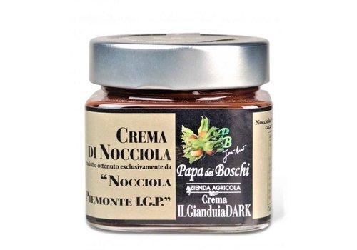 Papa dei Boschi Hazelnootpasta I.G.P. (250g) - Dark chocolate (lactosevrij)