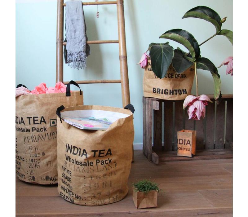 Gerecyleerde fair-trade geschenkmand