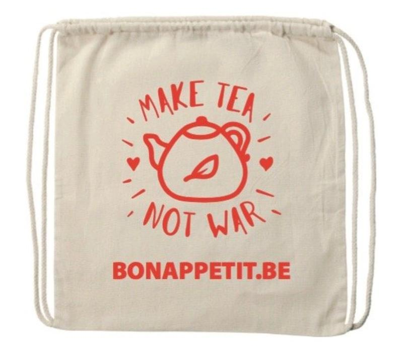 Geschenktasje 'Make tea not war'