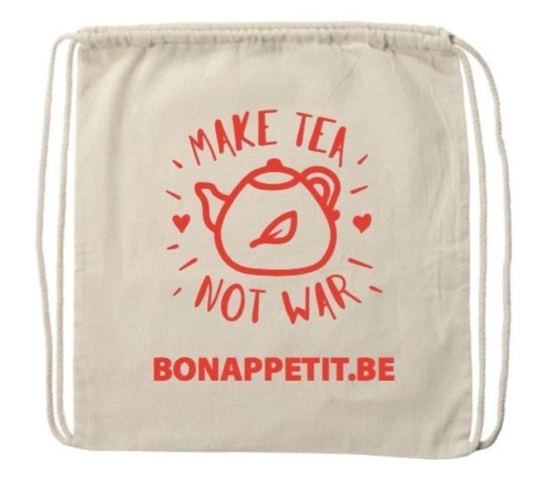 Geschenktasje 'Make tea not war'