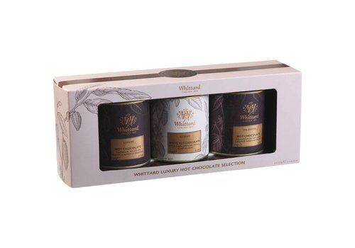 Whittard of Chelsea Warme chocolade Giftset trio uit Londen (3 x 120g)