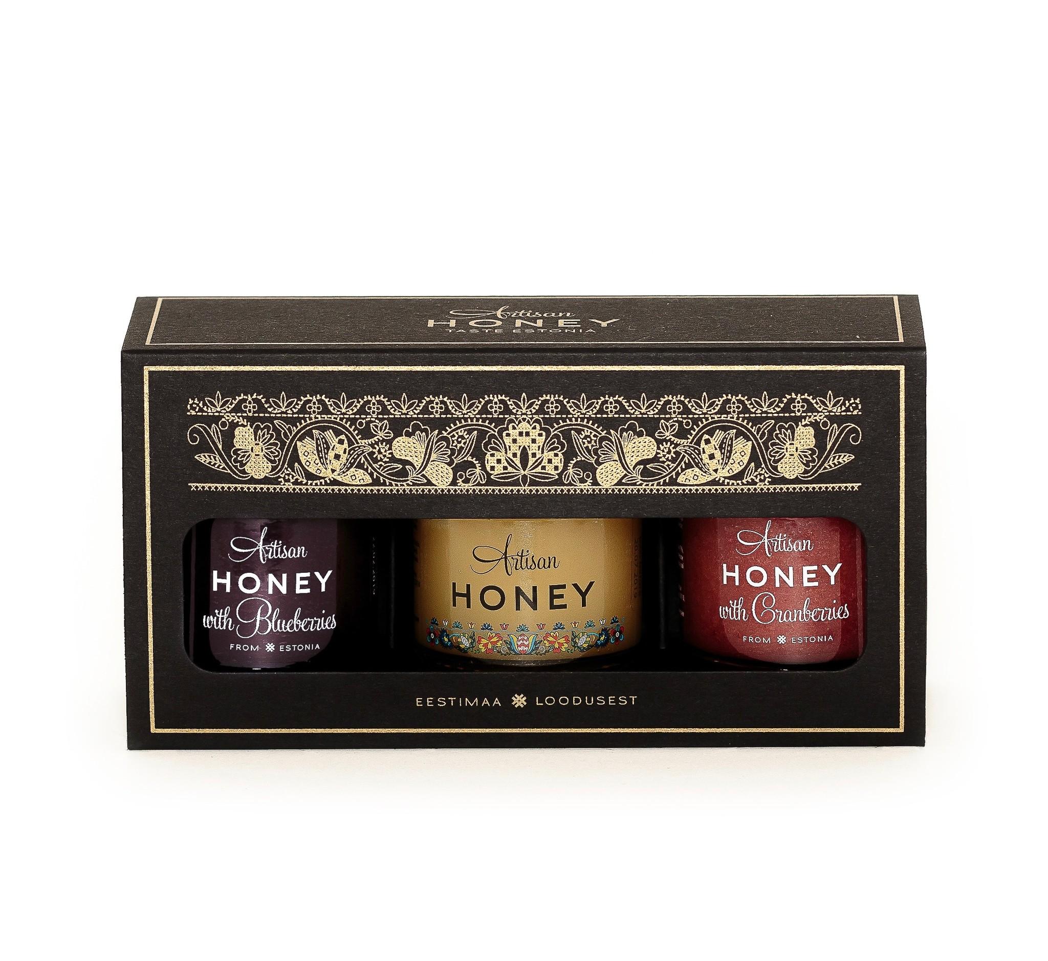 Honing met gevriesdroogd fruit