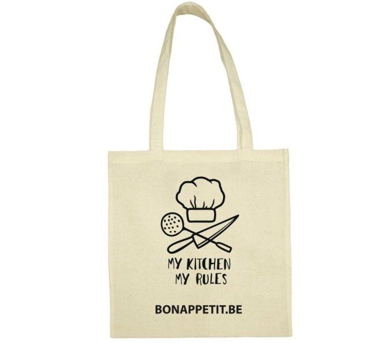 Tote bag 'My Kitchen My Rules' uit BIO katoen
