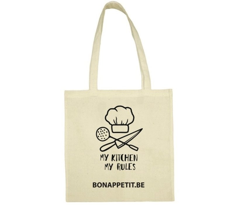 Tote bag 'My Kitchen My Rules' aus BIO-Baumwolle