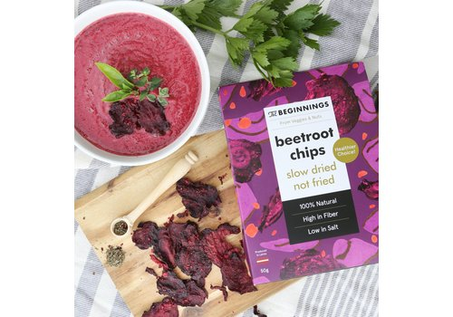 The Beginnings Chips aus Roter Bete mit Senfkörnern (30g)