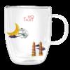 Or Tea? Dubbelwandige glazen mok met Terriër (inhoud 380ml)