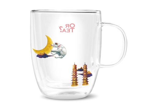 Or Tea? Dubbelwandige glazen mok - Terriër (380ml)