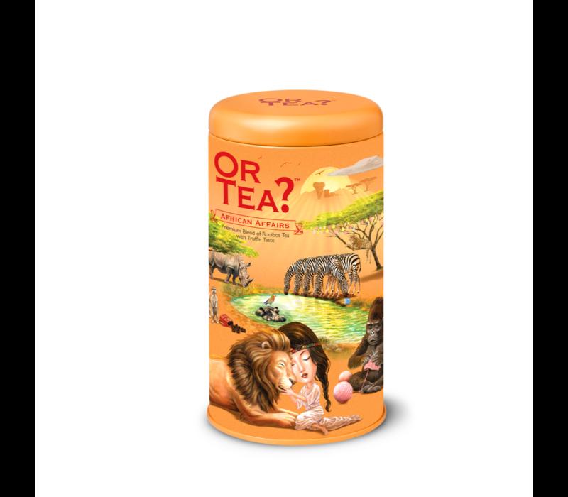 Zylinderpackung African Affairs mit losem Rooibostee mit Schokoladenaroma BIO (75g)