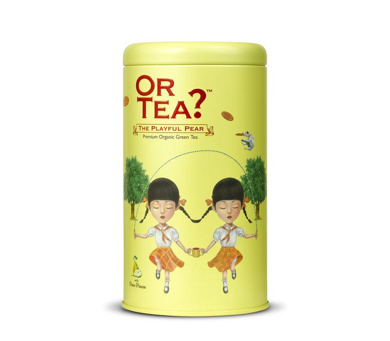 Zylinderpackung The Playful Pear mit losem grünem Tee mit Birne BIO (75g)
