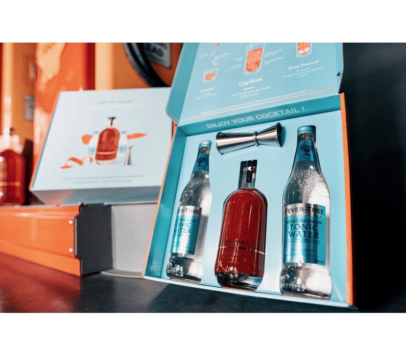 Geschenkpackung Belgischer Likör von BIO Blutorangen (500ml)