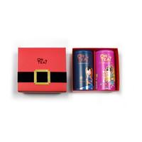 Duo Box mit 2 verschiedenen Zylinderpackungen mit losem Tee