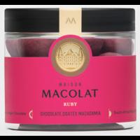 Chocolate coated Macadamia RUBY (100g)