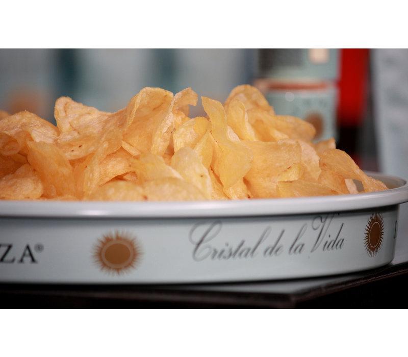 Fleur de sel Kartoffelchips mit muscatel Essig (125g)