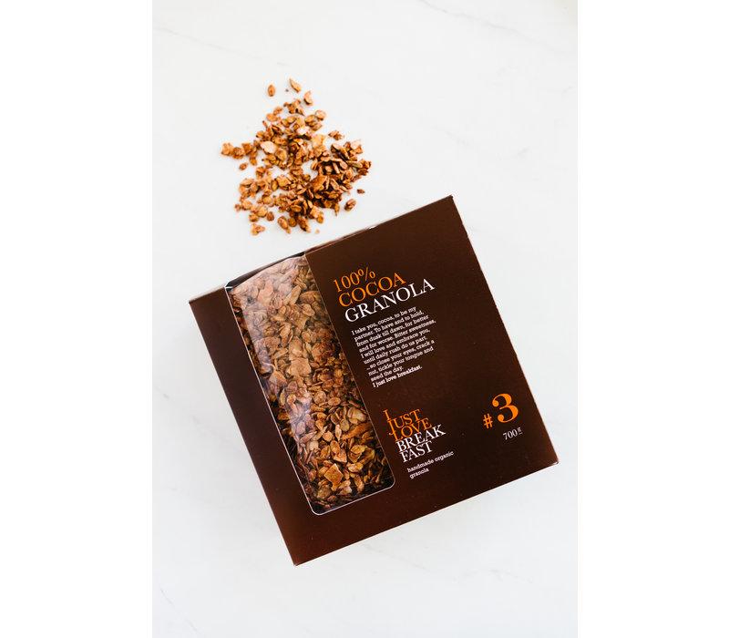 Handgemaakte BIO granola #3 Cacao Fanbox (700g)