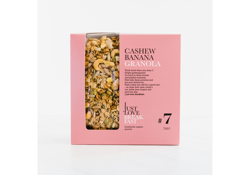 I Just Love Breakfast Fanbox granola #7 Cashew-Banana (700g)