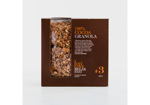 I Just Love Breakfast Fanbox granola #3 Cacao (700g)