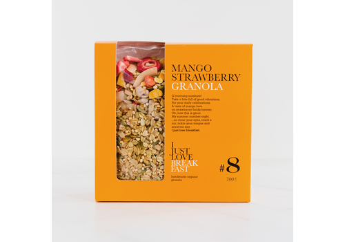 I Just Love Breakfast Fanbox granola #8 Aardbei Mango crunch (700g)