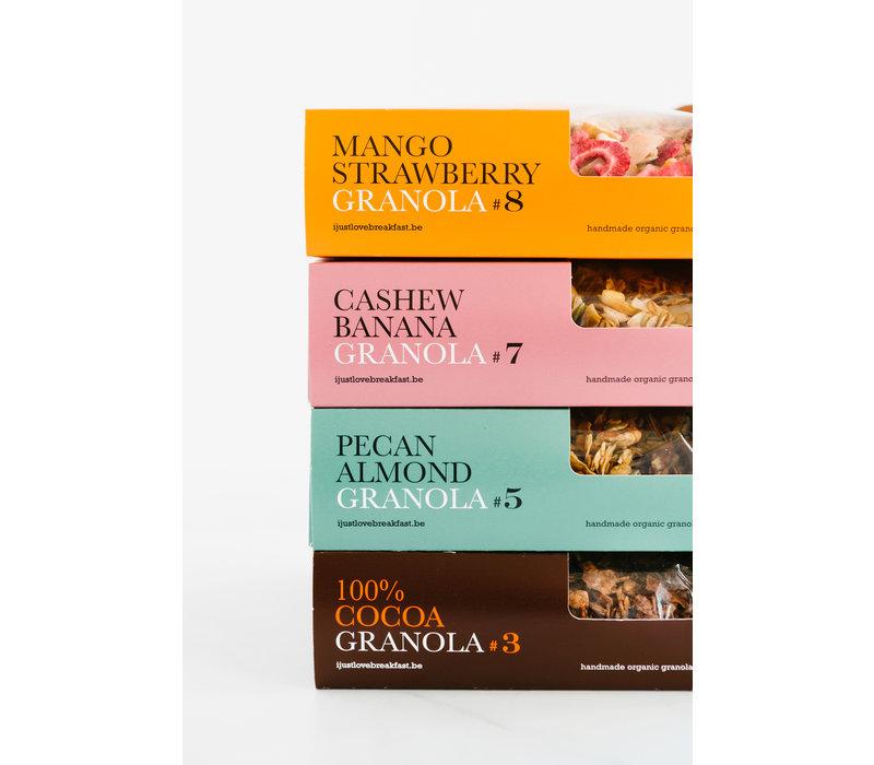 Handgemachtes BIO-Granola # 8 Erdbeer-Mango-Crunch Fanbox (700g)