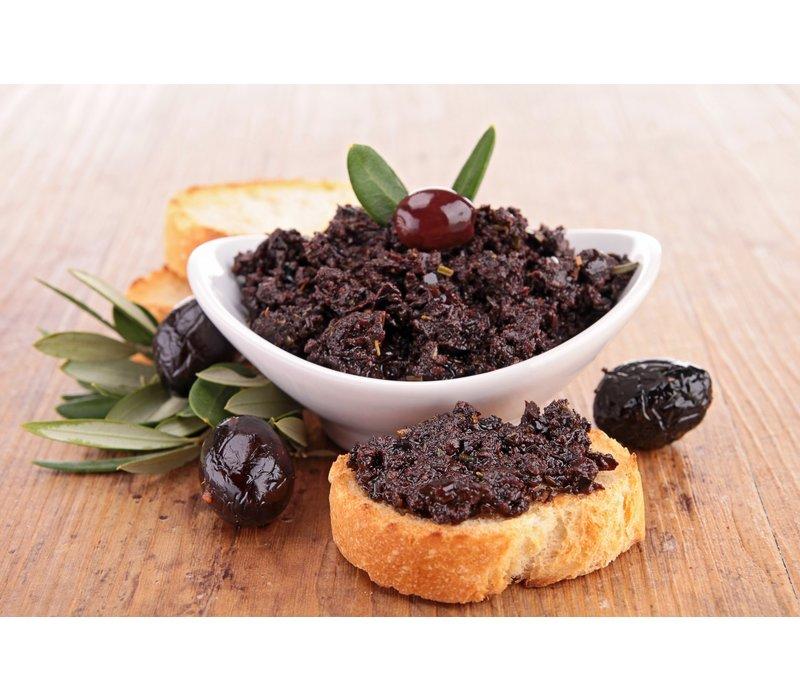 Biologische tapenade van zwarte olijven (212ml)