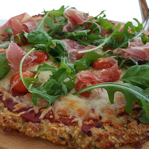 Gesunde Pizza mit der Brotmischung von HighFibe