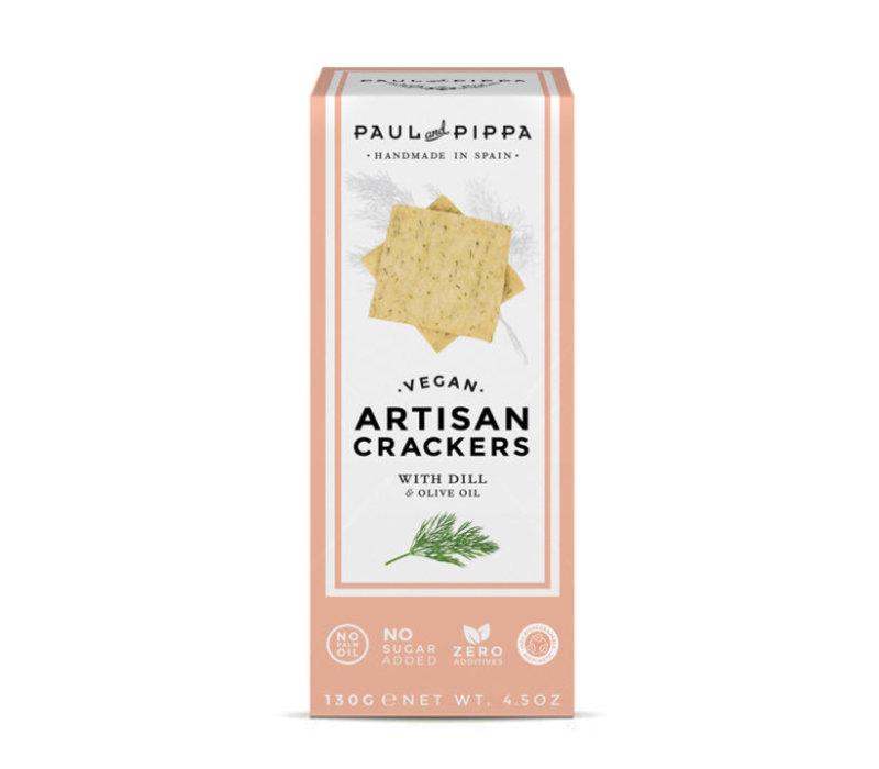 Handgemachte vegan Cracker mit Dill (130g)