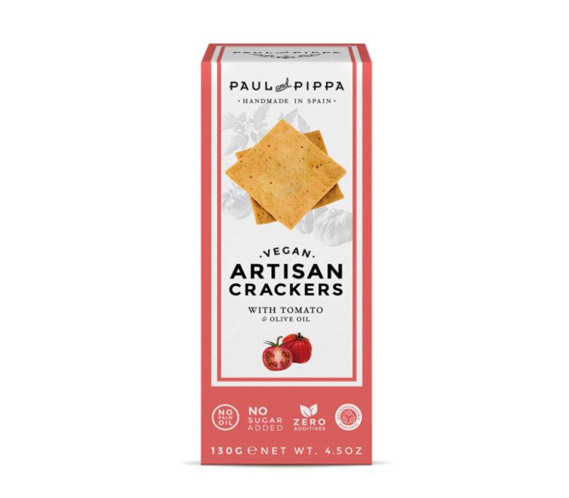 Handgemaakte vegan crackers met tomaat (130g )