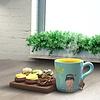 Or Tea? Keramieken theemok Ginseng Beauty met filter van roestvrij staal