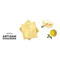 Handgemaakte vegan crackers met parmezaan (130g)