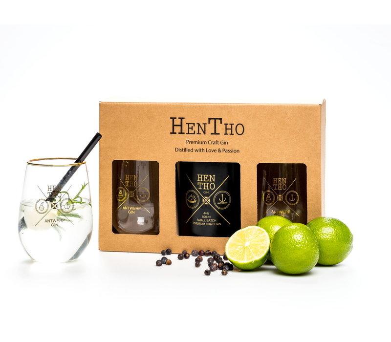 Geschenkpakket Belgischer, handgemachter gin NOAH (500ml)