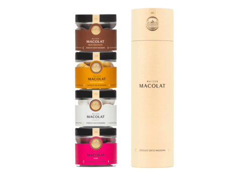 Maison Macolat Tower Geschenkbox 4 Gläser (4x100g)