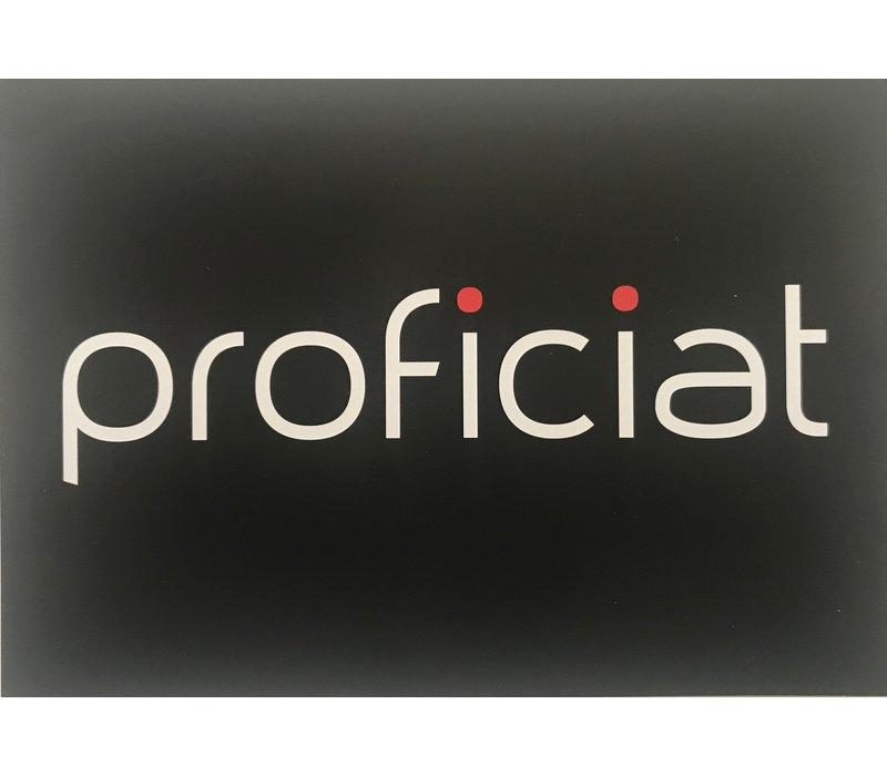 Persoonlijke, handgeschreven wenskaart 'Proficiat'