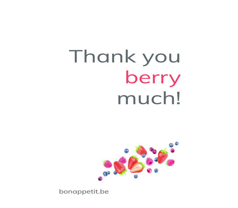 Persoonlijke, handgeschreven wenskaart 'Thank You'