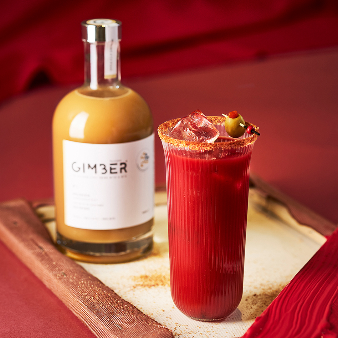 Virgin Bloody Mary met Gimber en chili